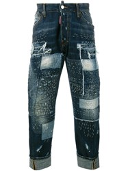 Dsquared2 Distressed Jeans Blue