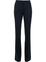Victoria Beckham Flared Trousers Blue