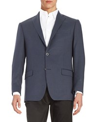 Michael Kors Checkered Two Button Jacket Navy