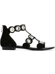 Barbara Bui Eyelet Sandals Black