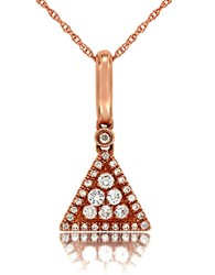 Marco Moore Diamond And 14K Rose Gold Triangle Pendant Necklace