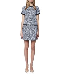 Erin Fetherston Floral Sheath Dress Blue Multi