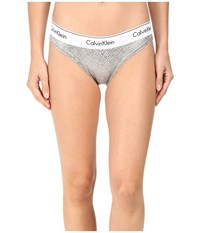 Calvin Klein Underwear Modern Cotton Bikini Chevron Outline Logo Grey Heather Women's Gray