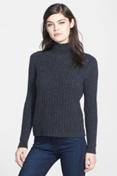 Chelsea 28 Textured Turtleneck Gray