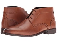 Nunn Bush Nathaniel Plain Toe Chukka Boot Cognac Men's Pull On Boots Tan