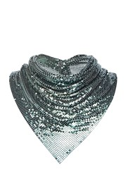 Paco Rabanne Chainmail Neck Scarf Green