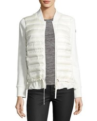 Moncler Maglia Tricot Quilted Jacket Olive