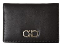 Salvatore Ferragamo Gancio Two Card Case 660419 Black Credit Card Wallet