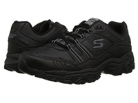 Skechers Afterburn M. Fit Strike On Black Men's Lace Up Casual Shoes