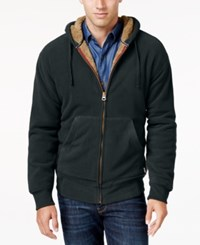 Weatherproof Vintage Men's Big And Tall Faux Sherpa Lined Hoodie Only At Macy's Pine
