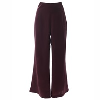 Roses Are Red Stepping Songs Burgundy Silk Trousers Pink Purple Red