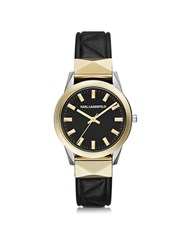 Karl Lagerfeld Labelle Stud Klassic Black And Gold Women's Watch