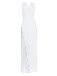 Camilla And Marc Gold Dipper V Neck Gown