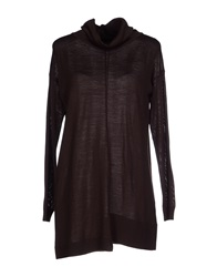 Alpha Massimo Rebecchi Turtlenecks Dark Brown