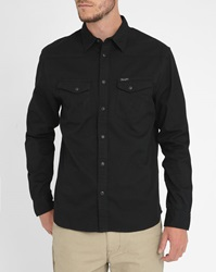 Wrangler Black Heritage Shirt With Press Studs On Pockets