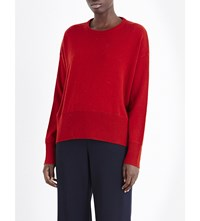 Allude Waffle Knit Wool And Cashmere Blend Jumper 66 Red