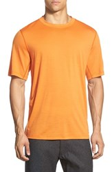 Men's Ibex 'All Day Weightless Wool Blend' T Shirt Kiln Orange