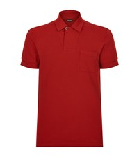 Tom Ford Cotton Pocket Polo Shirt Male Red