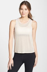 Women's Solow Sheer Plush Knit Tank Blush