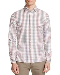 The Men's Store At Bloomingdale's Bicolor Gingham Classic Fit Button Down Shirt Koi Salmon