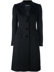 Dolce And Gabbana Tailored Buttoned Coat Black