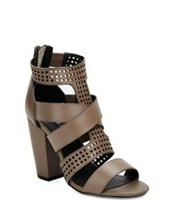Kelsi Dagger Ballard Perforated Leather Sandals Grey