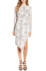 Leith Women's Ruched Snake Print Dress