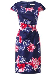 Precis Petite Rosa Print Shift Dress Blue Multi