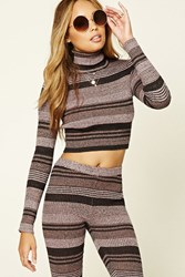 Forever 21 Striped Turtleneck Sweater