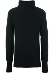 Ann Demeulemeester Grise Rib Roll Neck Sweater Black
