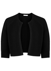 Hugo Boss Black Ribbed Knitted Cardigan