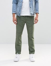 Asos Skinny Cargo Trousers In Green Frog Green