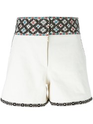 Talitha Embroidered Shorts White