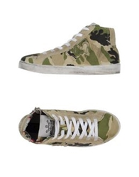 Le Crown High Tops And Trainers Military Green