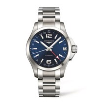 Longines Conquest Bracelet Watch Unisex Blue