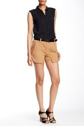 L.A.M.B. Double Crepe Short Brown