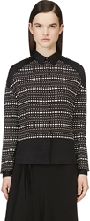Cnc Costume National Black And White Silk Dotted Blouse