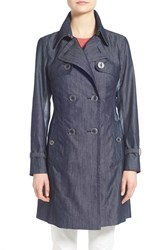Women's Nanette Lepore A Line Twill Trench Coat