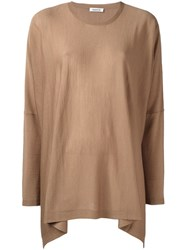 P.A.R.O.S.H. Relaxed Fit Knitted Top Brown