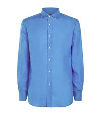 Ralph Lauren Linen Shirt Male Blue