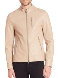 Mackage Leather Moto Jacket Sand