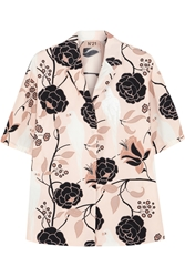 N 21 Cloe Oversized Printed Cotton Shirt Blush