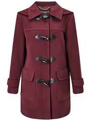 Four Seasons Plain Duffle Coat Berry