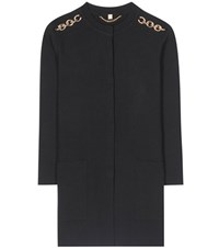 Burberry Colbybrook 16 Wool Blend Cardigan Black