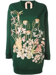 N 21 No21 Floral Embroidery Sweatshirt Green