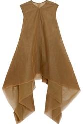 Rick Owens Flared Tulle Mini Dress Brown