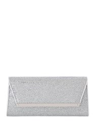 Jimmy Choo Margot Glitter And Net Lace Clutch