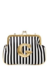 Melie Bianco Striped Initial Pouch G Multi