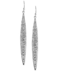 Vince Camuto Silver Tone Ombre Glitter Earrings