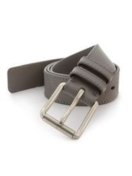 Burberry Check Embossed Leather Belt Grey